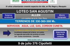 Lanzamiento Loteo «San Agustin»
