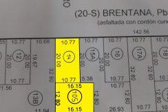 Terreno y Casas en Zona Centro  sobre calle Brentana