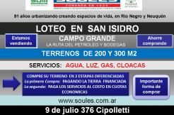 Lanzamiento Loteo Loteo San Eduardo, en la localidad de «San Isidro»