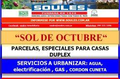 Loteo Sol de Octubre, Sobre calle San Luis