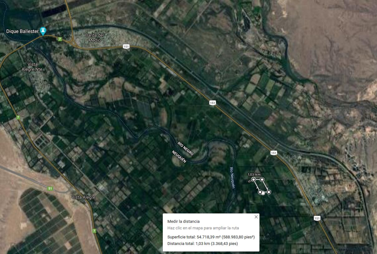 Chacra de 5 has y 20 as, ubicada a 500 m de la costa localidad de