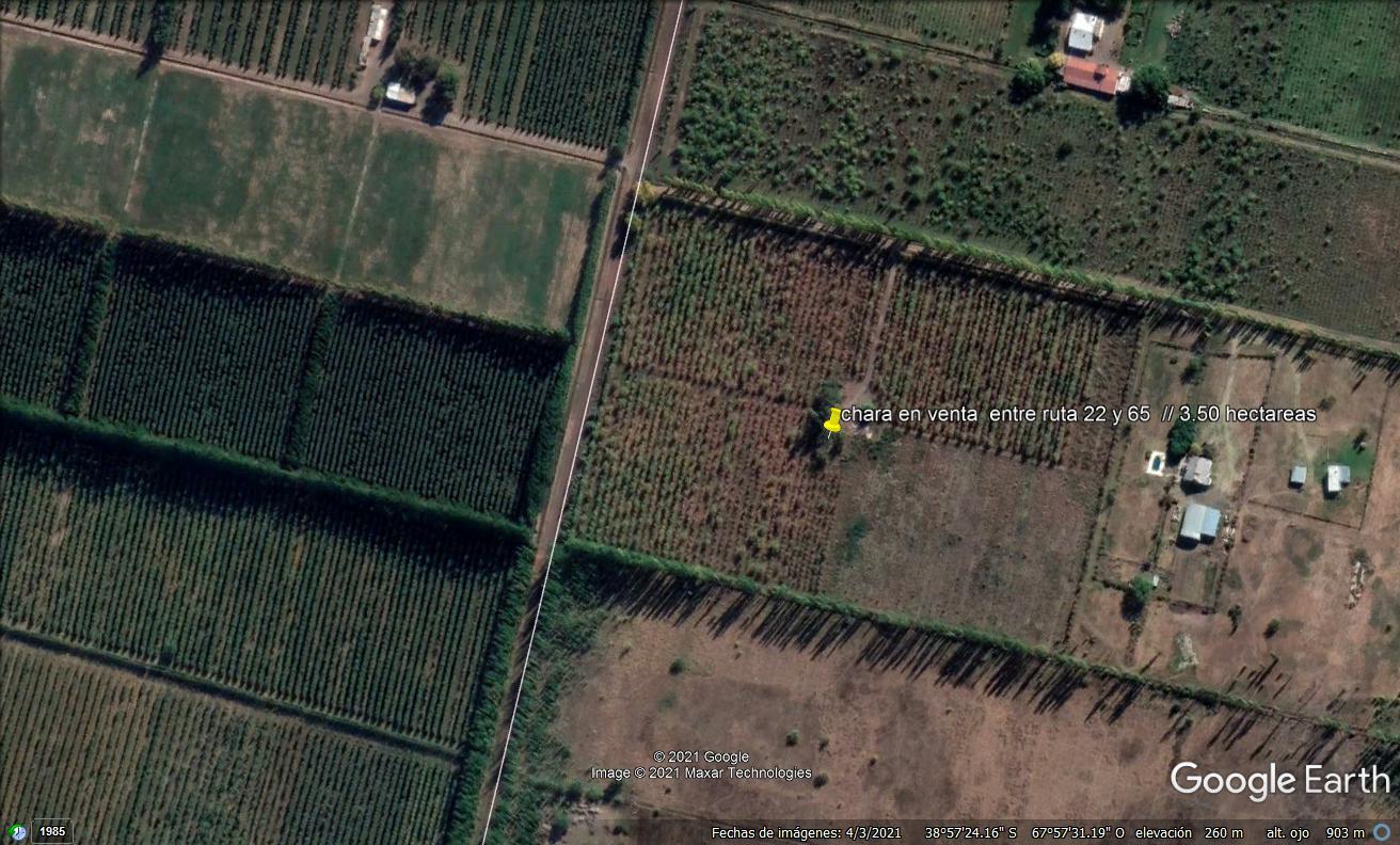 Chacra ubicada en calle Rural C12 entre las Rutas 65 y 22